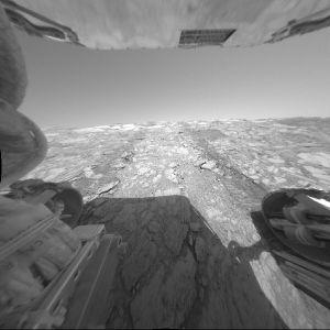 La paroi d'Endurance vue de l'intérieur du cratère