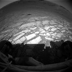 Dalles claires du sol martien