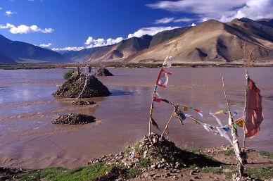Le Brahmapoutre au Tibet.