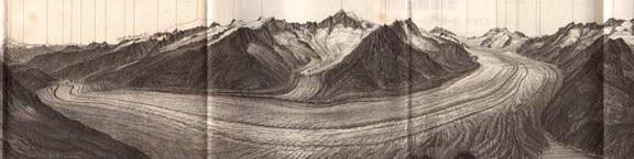 Le glacier d'Aletsch en 1899