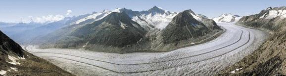 Le glacier d'Aletsch en 2000