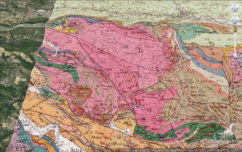Localisation et géologie de la carrière d'albitites de Saint Arnac - Lansac, massif de l'Agly