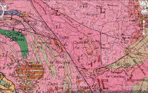 Détail de la géologie de la la carrière d'albitites de Saint Arnac - Lansac