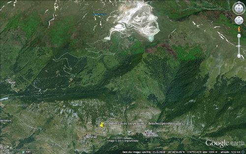 Localisation du massif péridotitique (lherzolithique) de Bestiac, au Sud de la carrière de talc de Trimouns
