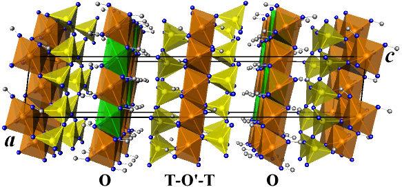 Modèle atomique des chlorites