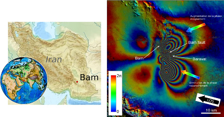 Interférogramme du séisme de Bam (Iran, 2003)