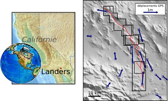 Données GPS lors du séisme de Landers (Californie, 1992)