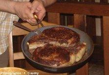 Le produit fini: côtes de bœuf cuites