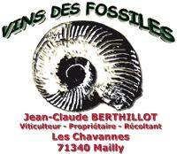 Étiquette du vin des fossiles avec Hammatoceras pachu de Mailly