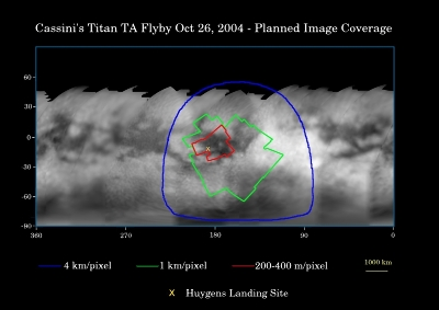 Planisphère de Titan dessiné en juillet 2004