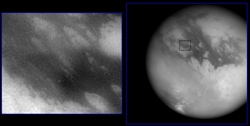 Le site d'atterrissage du module Huygens sur Titan