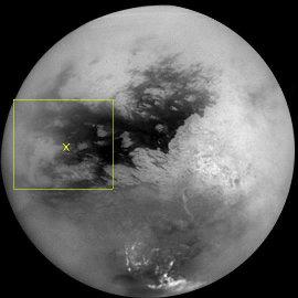 Image IR de Titan, obtenue en octobre 2004 par l'orbiter Cassini