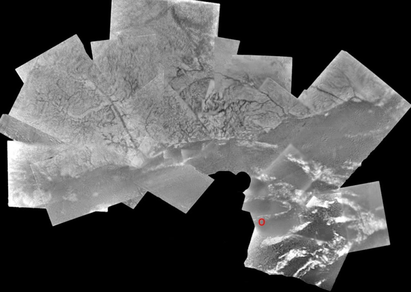 Mosaique d'Images de la surface de Titan