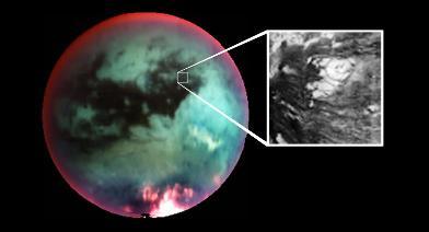 """Localisation du """"volcan"""" sur Titan"""