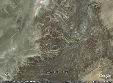 Réseau de drainage fossile terrestre (Sahara)