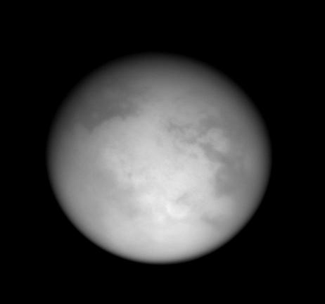 Vue générale de Titan, 16 février 2005, image IR (0,938 µm)