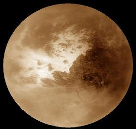 Mosaïque HR de Titan obtenue avec les images du survol du 15 février 2005