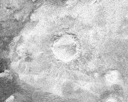 """""""Petit"""" cratère d'impact sur Titan, 60km de diamètre"""
