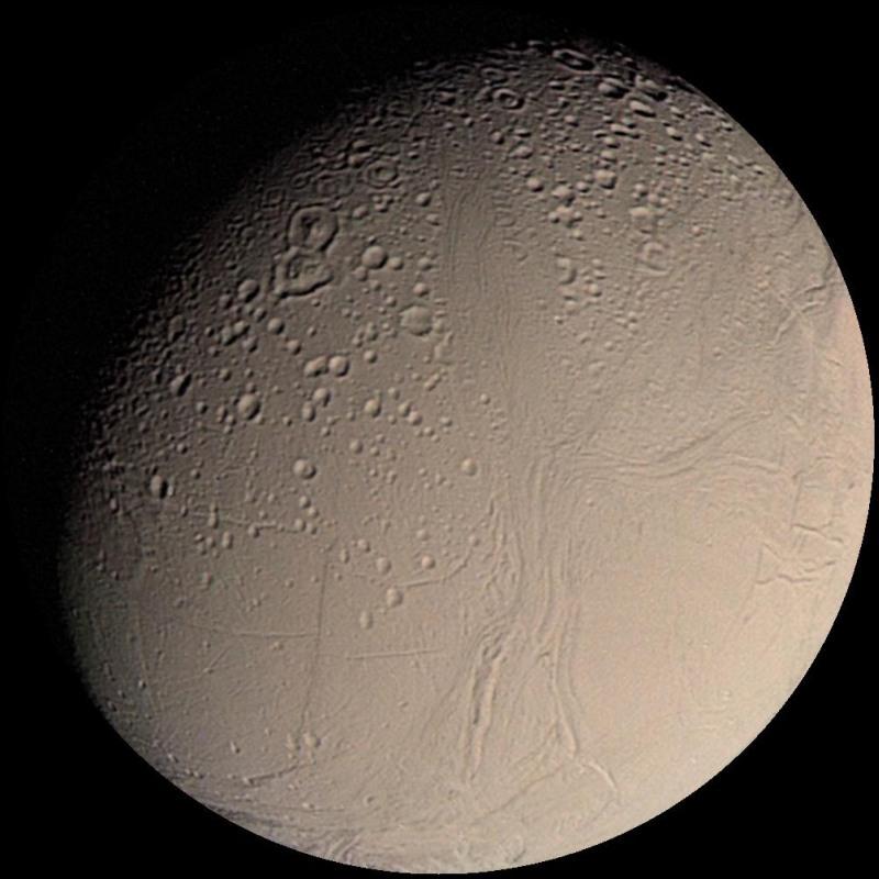 Encelade vue par Voyager