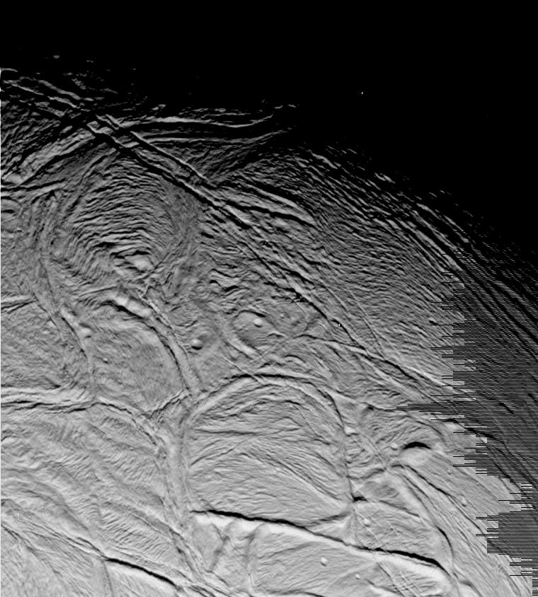 Méga-rides sur Encelade