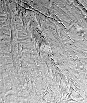 Tâches noires énigmatiques et fractures ouvertes à la surface d'Encelade, satellite de Saturne