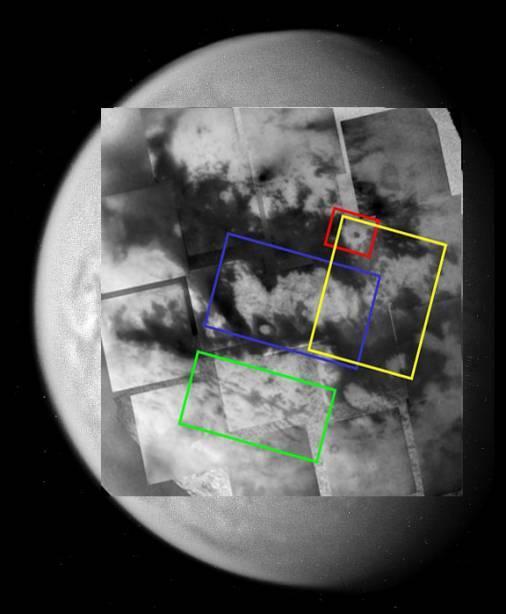 Emplacement des images détaillées du survol de Titan du 31 mars -1er avril 2005