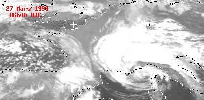 Situation météorologique du 27 mars 1999 à 06h00 temps universel