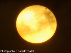 Photographie du transit de Vénus du 6 juin 2012