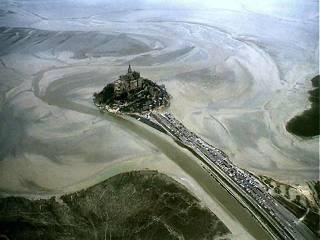Vue aérienne du Mont Saint Michel