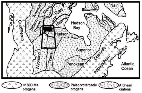 Cartographie du socle du bouclier canadien