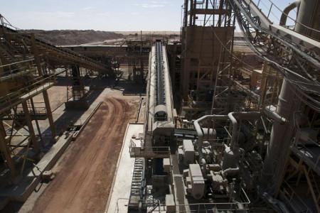 Les installations de surface de la mine de Cominak