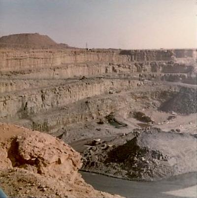 Fosse de la mine de Somaïr (Arlit, Niger)