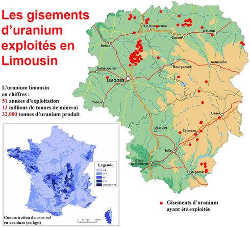 Les gisements d'uranium exploités en Limousin de 1949 à 2001