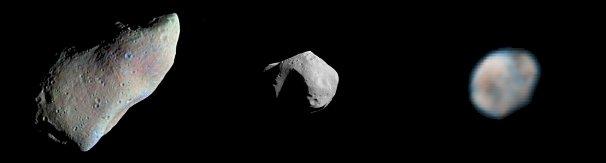 Différents types d'astéroïdes connus