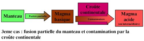 Contamination crustale et granites