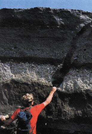 Vision d'ensemble des dépôts de l'éruption de 79, à Terzino