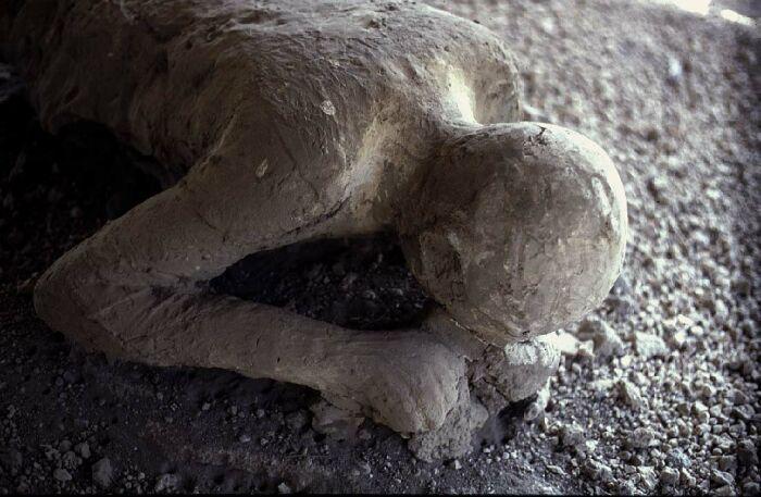 Victime de l'éruption du Vésuve, Pompéi, 79 ap. J.C.