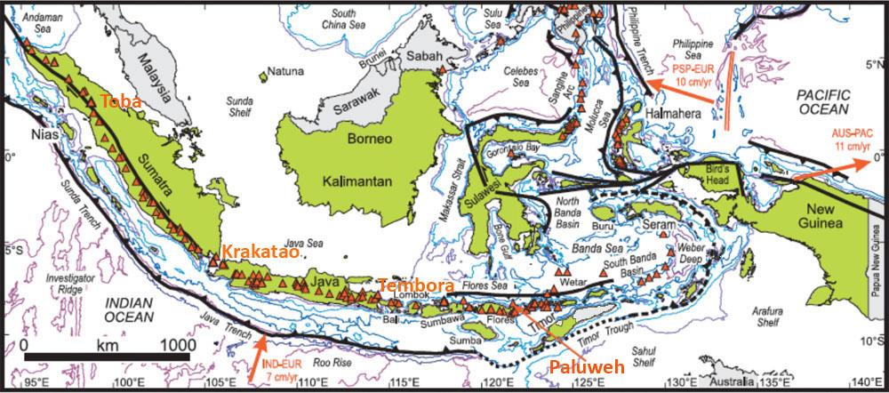 Géographie et cadre structural de l'Indonésie