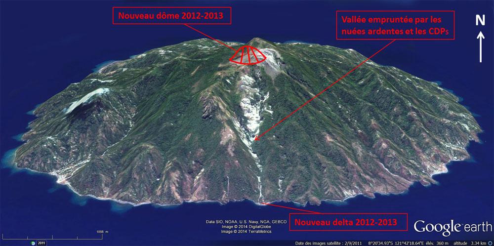 L'île de Paluweh en septembre 2013, deux mois avant le début de l'éruption de 2012-2013