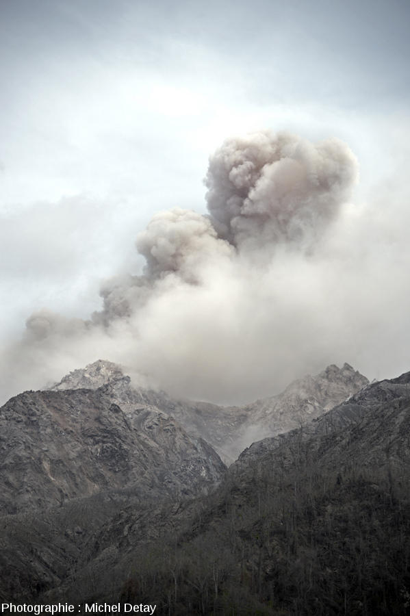 """""""Petit"""" panache vulcanien au-dessus de dôme du Paluweh, Indonésie"""