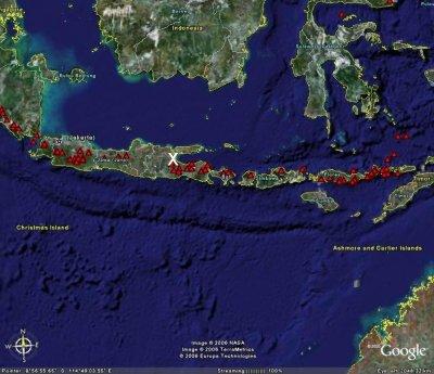 Localisation de l'île de Java