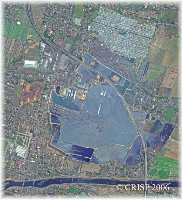 Le 17 septembre 2006, le « lac de boue » s'étend encore