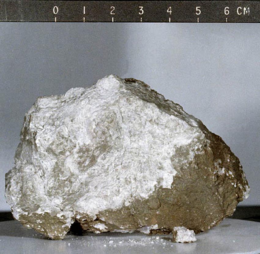La pierre de la Genèse, un échantillon d'anorthosite lunaire