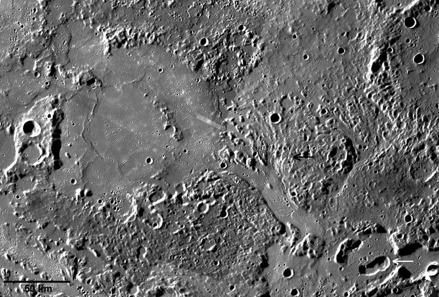 Coulée de lave sur Mercure