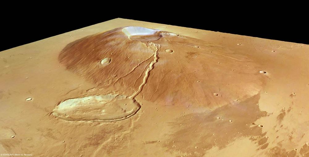 """Un """"petit"""" volcan martien, Ceraunius Tholus"""