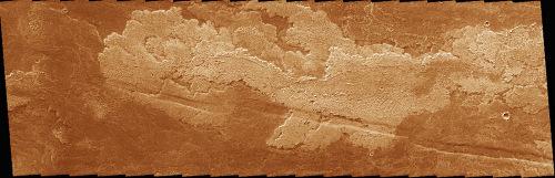 Coulées de lave martiennes