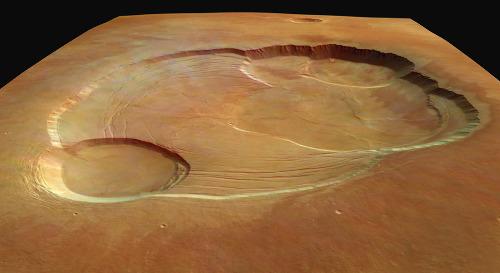 Les caldeiras martiennes d'Olympus Mons
