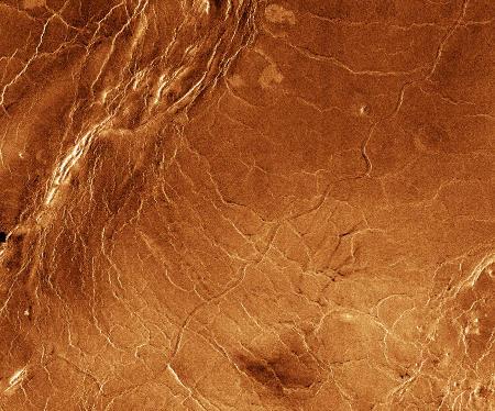 Chenal flexueux sur Vénus