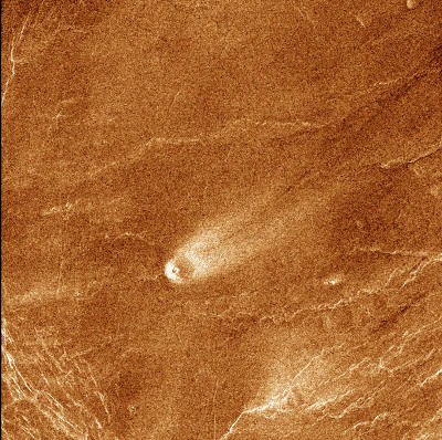 Cône volcanique sur Vénus