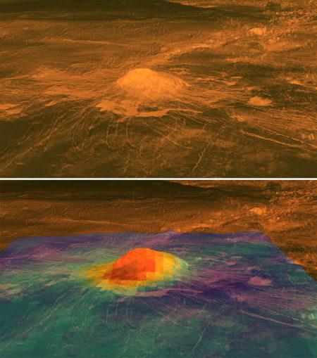 Idunn Mons, un volcan actif sur Vénus